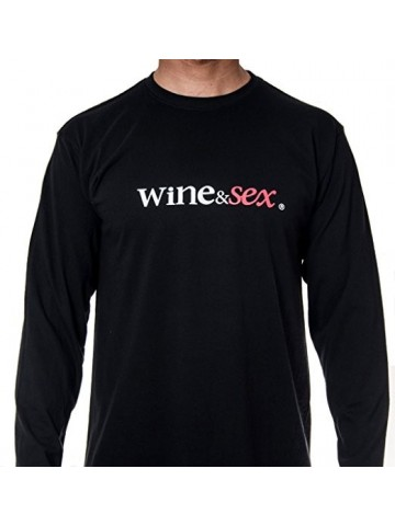 Wine&Sex Listán - Men´s Round Neck Long Sleeved-S