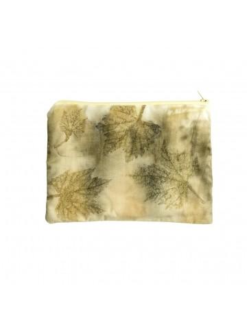 Vinotinte - Vine Leaf Printed Make Up Bag - ECOPRINT