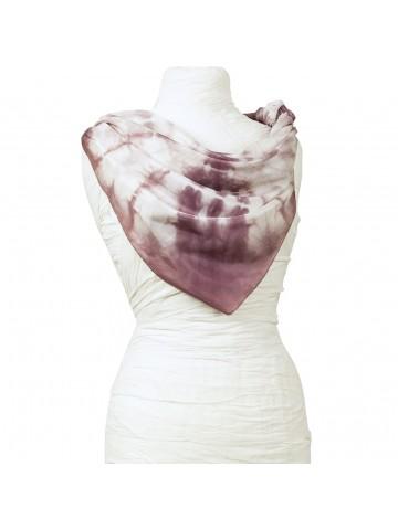 Vinotinte - Pañuelo cuadrado violeta Mujer - TIE-DYE