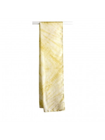 Vinotinte - Women's Rectanglular Yellow Scarf - SHIBORI