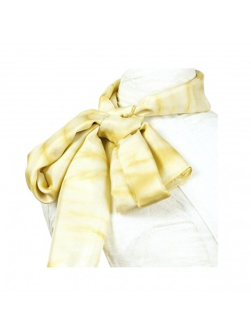 Vinotinte - Pañuelo rectangular amarillo Mujer - SHIBORI