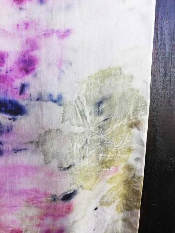 Vinotinte - Rectangular Violet Scarf - ECOPRINT
