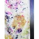 Vinotinte - Rectangular Violet Scarf - ECOPRINT 05
