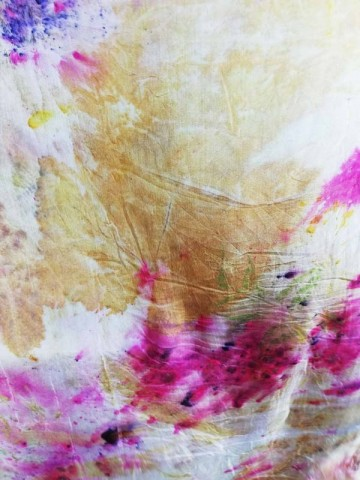 Vinotinte - Rectangular Violet Scarf - ECOPRINT 07