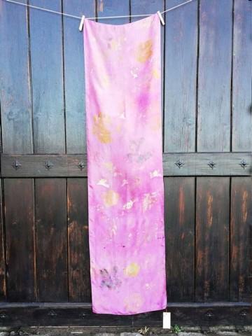 Vinotinte - Rectangular Violet Scarf - ECOPRINT 08