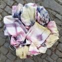 Mantel de seda artesanal 02 estampado flores - Vinotinte
